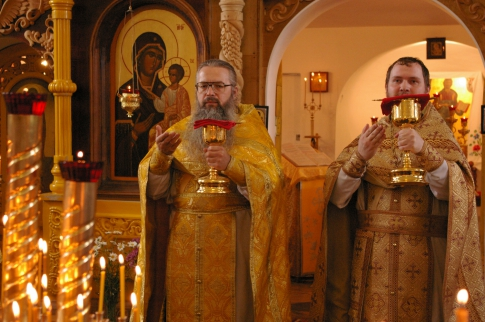 Priests with the Holy Gifts