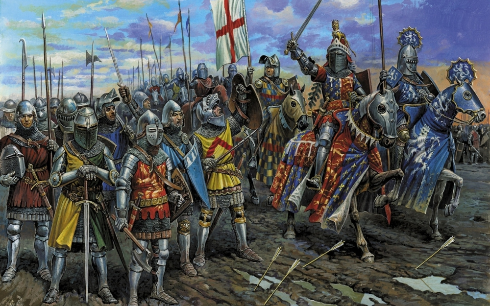 Picture of the battle with the knights