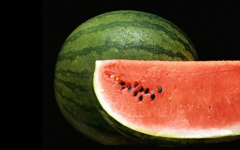 Watermelon is red