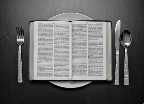 Bible on a plate