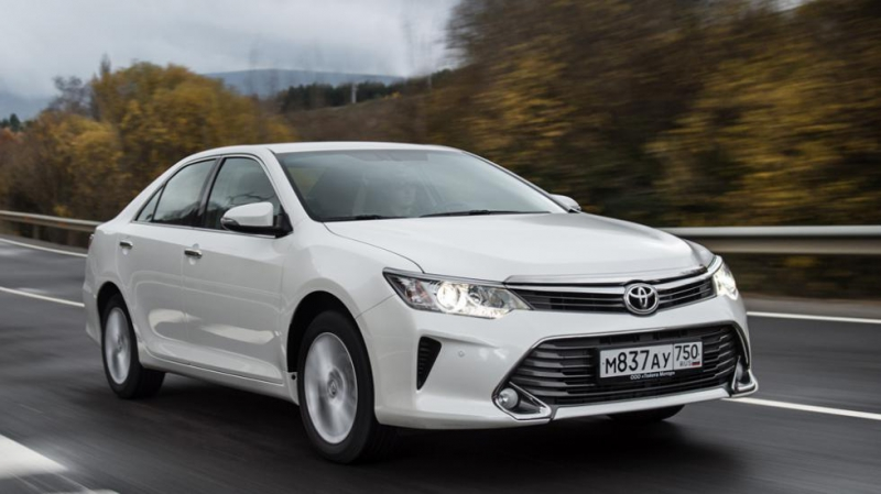 Toyota Camry in motion