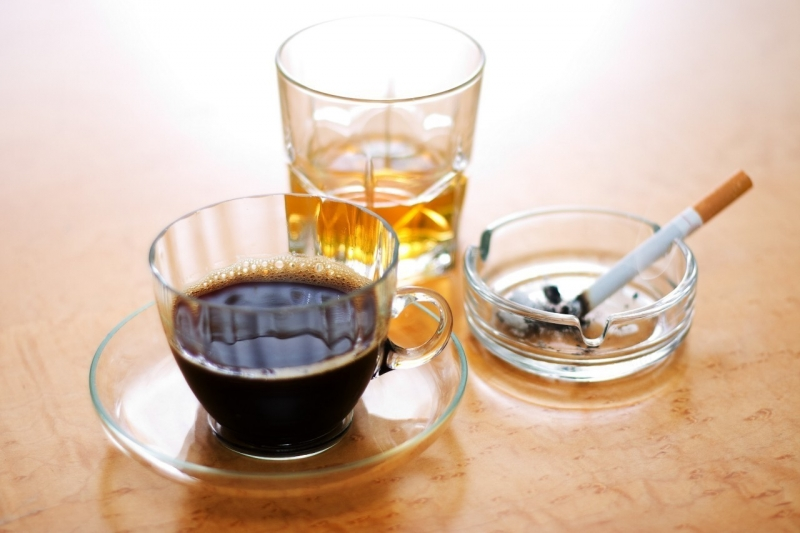 Coffee, cigarettes and alcohol