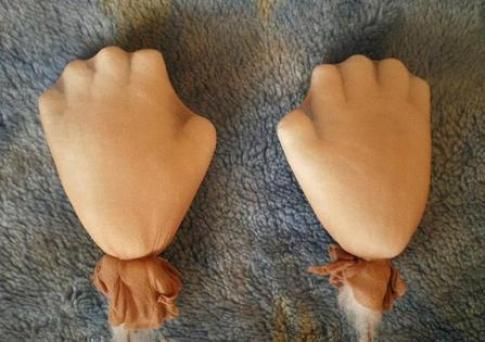 Голова куклы из капрона мастер класс пошагово